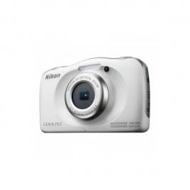 Camara Digital Nikon Coolpix W100 + Mochila 13.2 Mpixel 3X Zoom Acuatica White