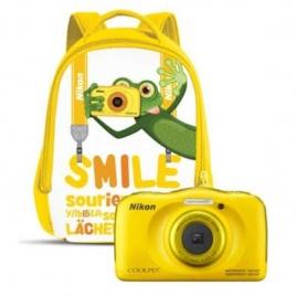 Camara Digital Nikon Coolpix W100 + Mochila 13.2 Mpixel 3X Zoom Acuatica Yellow