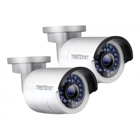 Camara IP Trendnet TV-IP320PI Dia/Noche HD POE Pack 2 Unidades