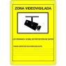 Cartel Microview Zona Videovigilada