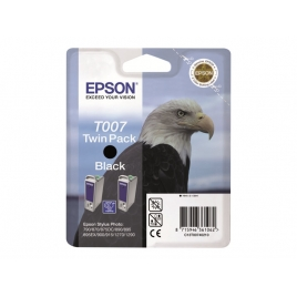 Cartucho Epson T007 Black Twin Pack Stylus Photo 790/870/875DC/890/895/900/915/1270/1290