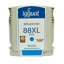 Cartucho Reciclado Iggual HP 88XL Cian 23ML