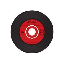 CD-R Verbatim 700MB 80MIN 52X Slim Case Vinyl Caja 10U