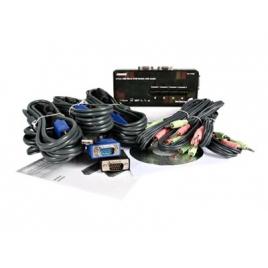 Conmutador KVM Startech 4X1 MON, TEC, RA USB