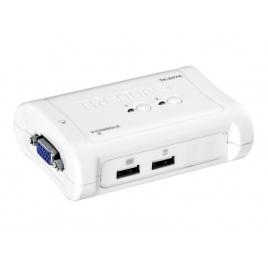 Conmutador KVM Trendnet 2X1 MON, TEC, RA USB