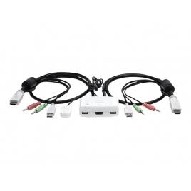 Conmutador KVM Trendnet 2X1 MON, TEC, RAT USB HDMI Audio