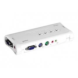 Conmutador KVM Trendnet 4X1 MON, TEC, RA PS2