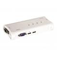 Conmutador KVM Trendnet 4X1 MON, TEC, RA USB