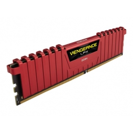 DDR4 4GB BUS 2400 Corsair Vengeance LPX red