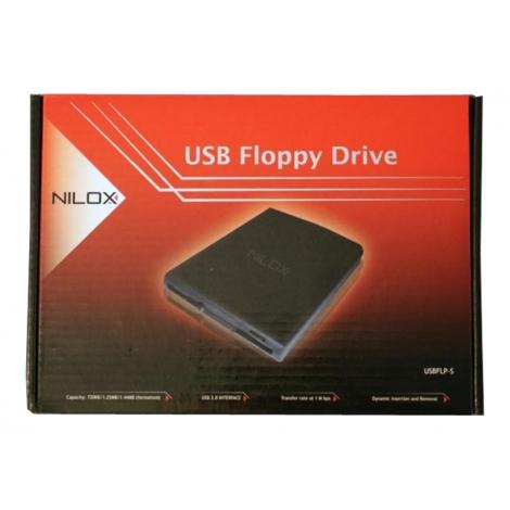 Disquetera USB Externa Nilox Black