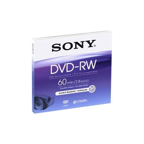 DVD-RW Sony 2.8GB 2X Mini Caja 1U