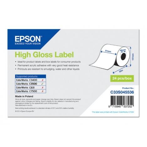 Etiquetas Epson White 51MM X 33M Continuo TM C3500