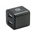 HUB Conceptronic USB 4 Puertos Cube Grey
