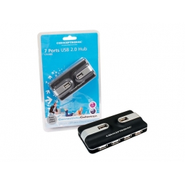 HUB Conceptronic USB 7 Puertos 2.0 Alimentado
