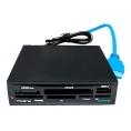 Lector Memorias Tacens Anima 68 EN 1 Interno Black + USB 3.0