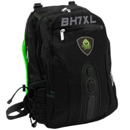 "Mochila Portatil Keep Out BK7 XL Gaming 17.3"" Black/Green"