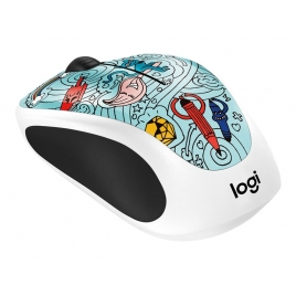 Mouse Logitech Wireless M238 Doodle Collection BAE-BEE Blue