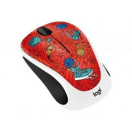 Mouse Logitech Wireless M238 Doodle Collection Champion Coral