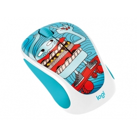 Mouse Logitech Wireless M238 Doodle Collection Skateburger