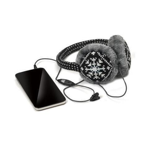 Orejeras Celly con Auricular Ajustable + Microfono Winter Collection Black