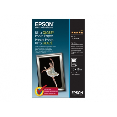 Papel Epson Photo Paper Ultra Glossy 13X18 50H 300GR