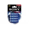Pila Alcalina Sony Tipo AA LR6 Pack 4