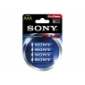 Pila Alcalina Sony Tipo AAA LR03 Pack 4