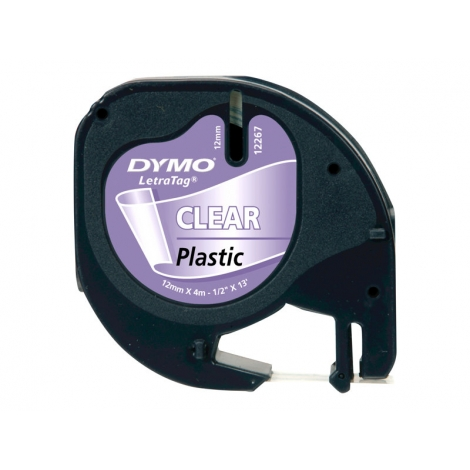 Rollo Dymo Letratag 12Mmx4m Transparente/Black
