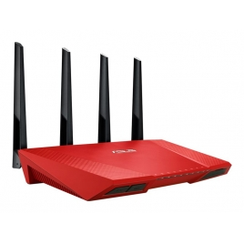 Router Wireless Asus RT-AC87U AC 10/100/1000 4P RJ45 + 1P RJ45 red