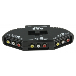 Selector Audio/Video HQ 3 Vias 3RCA