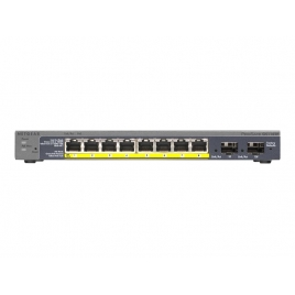 Switch Netgear PRO Safe Gs110tp 10/100/1000 8 Puertos POE + 2 Puertos SFP