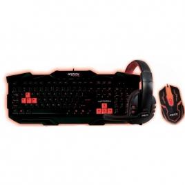 Teclado + Mouse + Auricular Approx Comboo2 Retroiluminado Black/Red