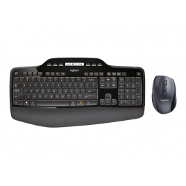 Teclado + Mouse Logitech Wireless Desktop MK710 Laser
