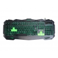 Teclado Keep Out Gaming F80S Retroiluminado USB Black/Green 5 Teclas Prog