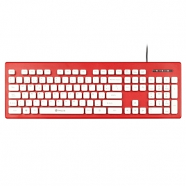Teclado NGS Clipper USB Red/White