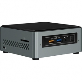 Barebone Intel NUC CEL J3455 2GB 32GB HD Graphics 500 7.1 Glan W10 Black/Silver