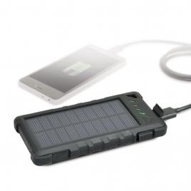 Bateria Externa Universal Port Solar 8.000MAH USB Black