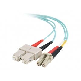 Cable C2G Fibra Optica 2 LC / 2 SC Multimodo 50/125 5M