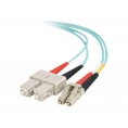 Cable C2G Fibra Optica 2 LC / 2 SC Multimodo 50/125 5M