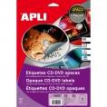 Caja Etiquetas Apli CD-DVD 117MM White 25 Hojas