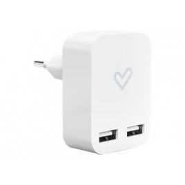 Cargador USB Energy Home Charger 2.4A 2Xusb para Casa White