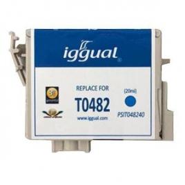 Cartucho Reciclado Iggual Epson T0482 Cian 21ML