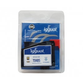 Cartucho Reciclado Iggual Epson T0485 Cian Light 21ML