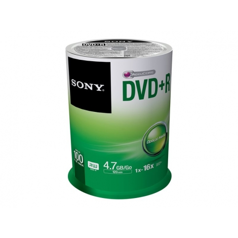 DVD+R Sony 4.7GB 16X Lata 100U