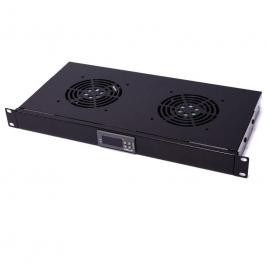 """KIT Ventilacion Rackmatic 19"""" 2 Ventiladores con Termostato"""