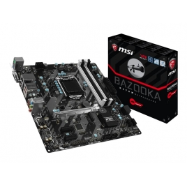 Placa Base Msi Intel H270M Bazooka Socket 1151 Matx Grafica DDR4 Glan USB 3.1  Audio 7.1