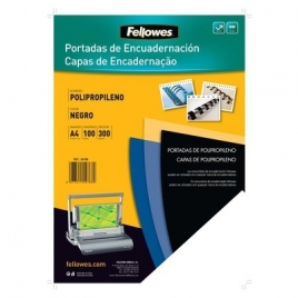 Portada Fellowes PP300 Black A4 280 Micras 100H