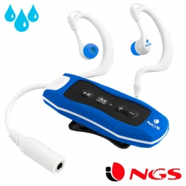 Reproductor Portatil MP3 NGS 4GB Acuatico Blue Seaweed