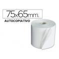 Rollo Papel Impresora Ticket 75X65X12 con Copia Pack 10U