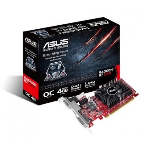 Tarjeta Grafica PCIE AMD Radeon R7 240 4GB DDR3 VGA DVI-D HDMI